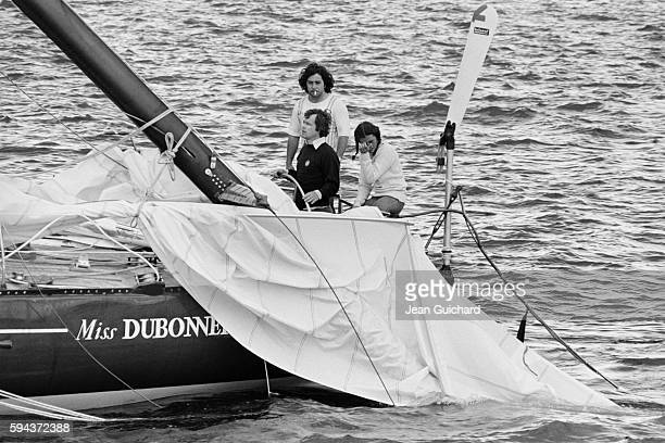 French sailor Florence Artaud at the beginning of the Great Britain Transat Her sail broke forcing her to abandon the race