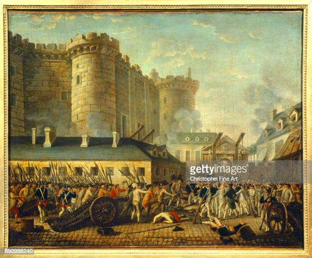 French School The Storming of the Bastille July 14th 1789 The Arrest of the Gorvernor De Launay Oil on canvas 058 x 073 m Versailles Chateaux de...