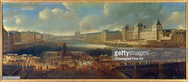 French School View of Paris from the Pont Neuf 1666 Palace of Versailles