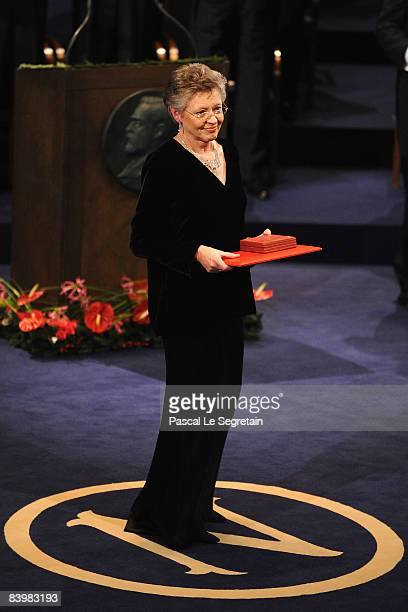 French scientist Francoise BarreSinoussi receives her 2008 Nobel Prize for Medicine for her discovery of the virus that causes AIDS during the Nobel...