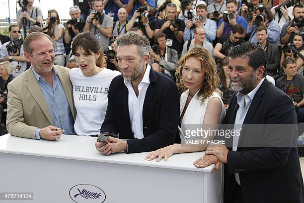 French screenwriter Etienne Comar, French actress and director Maiwenn, French actor Vincent Cassel, French actress Emmanuelle Bercot and French...
