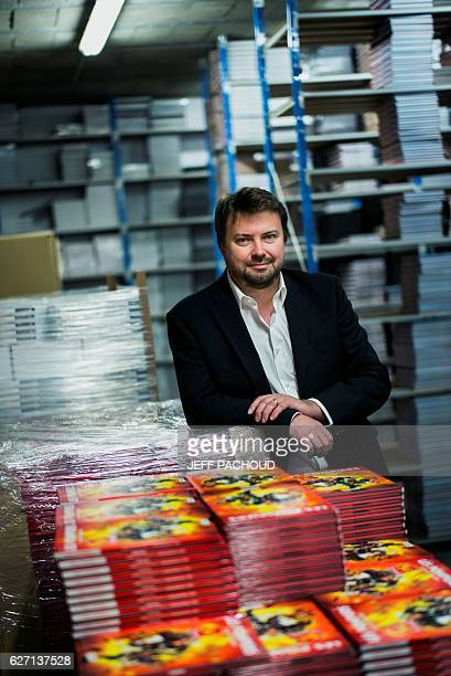 French scriptwriter and founder of the French comics publishing house Bamboo Edition Olivier Sulpice poses on November 29 2016 at the Bamboo...