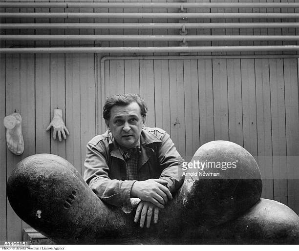 French sculptor Jacques Lipchitz poses for photograph October 11 1946 in New York City