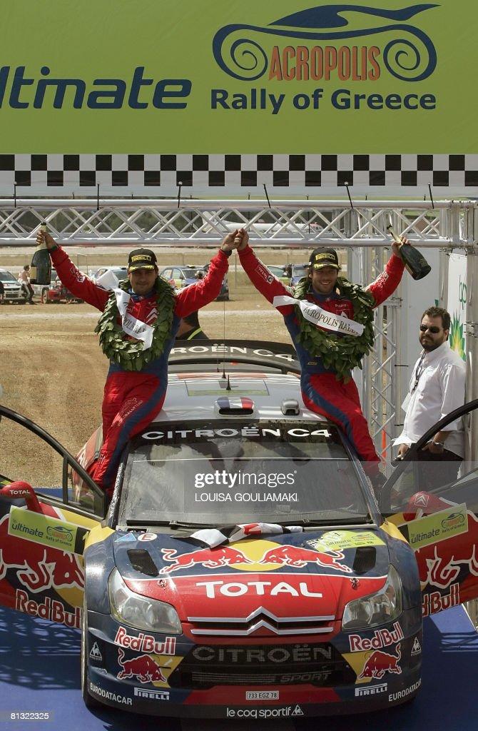 French Sebastien Loeb with Monaco's Dani : News Photo