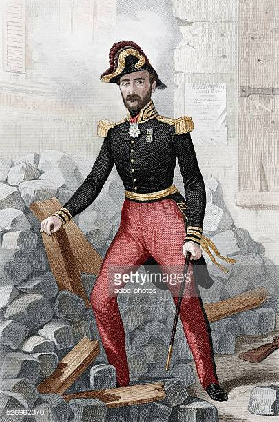 French Second Republic Louis Eug��ne Cavaignac during the June Days Uprising in Paris In June 1848 Coloured engraving of the 19th century