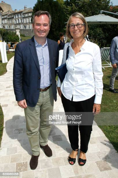 French Secretary of State for Foreign Affairs JeanBaptiste Lemoyne and Minister of Culture Francoise Nyssen attend the 10th Angouleme FrenchSpeaking...