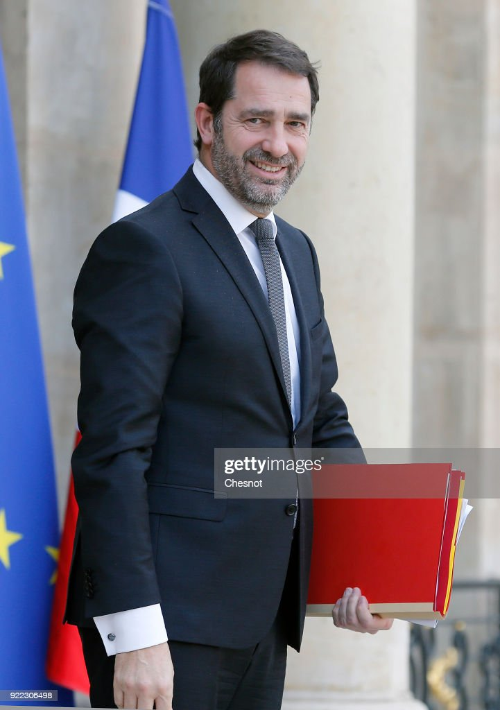 French Secretary of State for Parliamentary Relations and Government Spokesperson, Christophe Castaner leaves the Elysee Presidential Palace after a weekly cabinet meeting on February 21, 2018 in Paris, France. Two French soldiers were killed today in Mali during an operation of the French army.