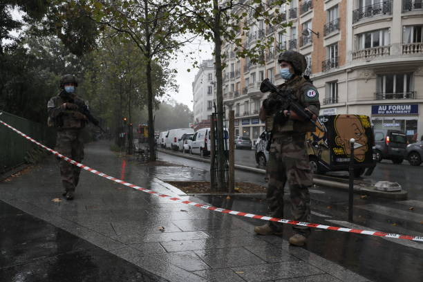 FRA: Paris On Standby After Stabbing At Former Charlie Hebdo Offices