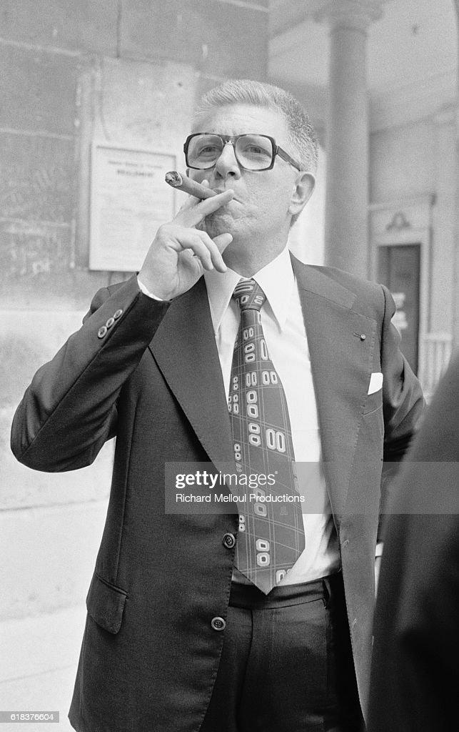 Senator Jean-Pierre Fourcade Smoking Cigar : News Photo