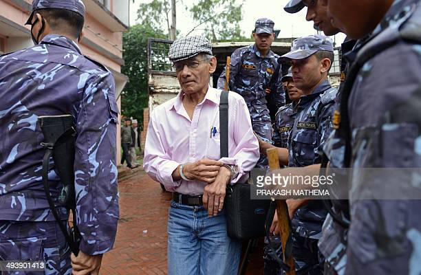 French serial killer Charles Sobhraj is brought to the district court for a hearing on a case related to the murder of Canadian backpacker Laurent...