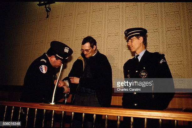 French serial killer Francis Heaulme at the court of justice of Quimper