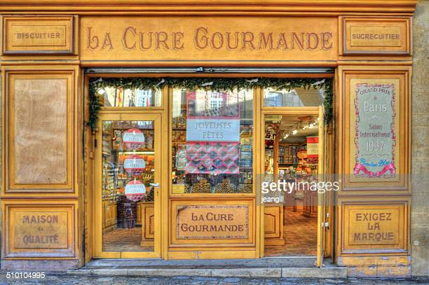 french shop selling specialist cookies - aix en provence stock pictures, royalty-free photos & images