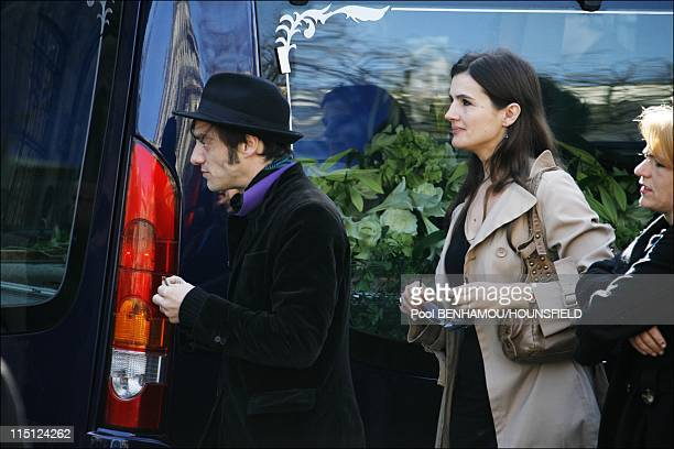 French singer Alain Bashung's funeral ceremony at Eglise SaintGermaindesPres in Paris France on March 20 2009 Arthur Bashung Alain Bashung's son