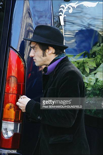 French singer Alain Bashung's funeral ceremony at Eglise Saint-Germain-des-Pres in Paris, France on March 20, 2009 - Arthur Bashung, Alain Bashung's...