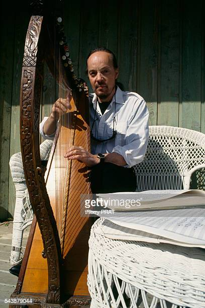 French singer Alan Stivell at his home in Britain