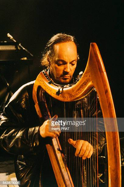 French singer Alan Stivell in concert in Paris at the 'Casino de Paris'