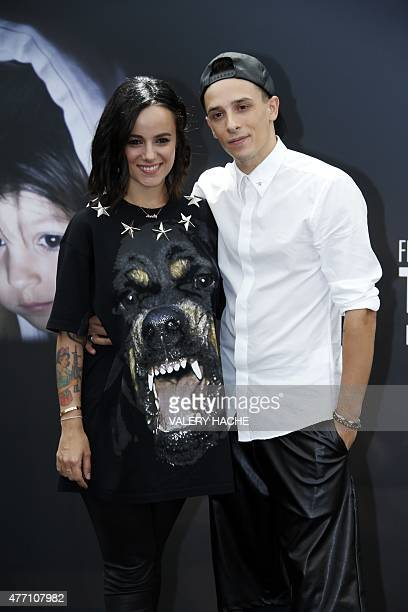 French singer Alizee and French dancer Gregoire Lyonnet pose during the 55th MonteCarlo Television Festival on June 14 in Monaco AFP PHOTO / VALERY...