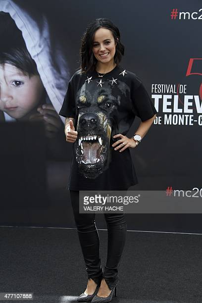 French singer Alizee poses during the 55th MonteCarlo Television Festival on June 14 in Monaco AFP PHOTO / VALERY HACHE