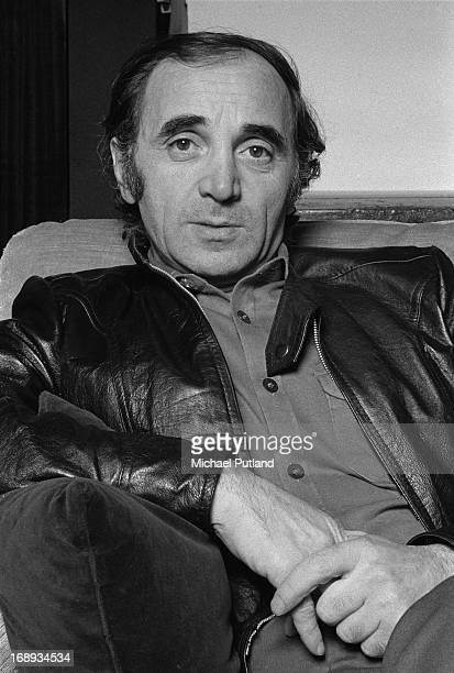 French singer and actor Charles Aznavour Paris 15th April 1973