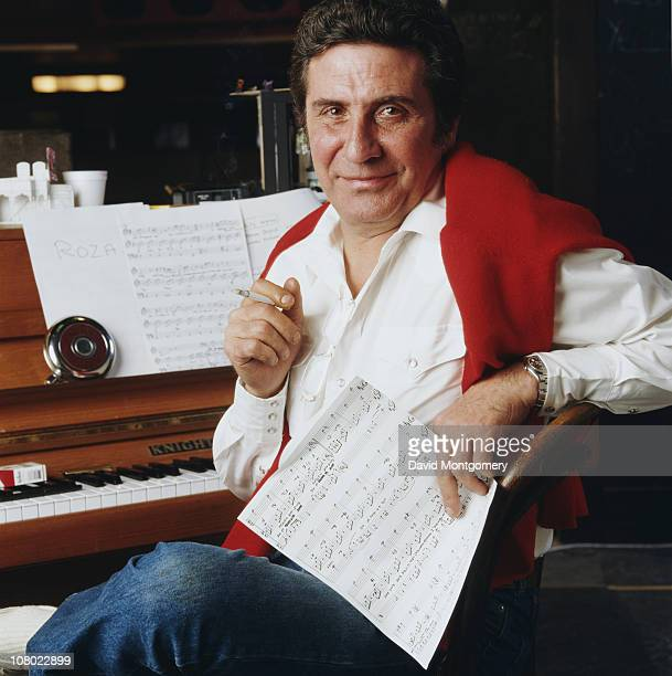 French singer and actor Gilbert Becaud 1st May 1984