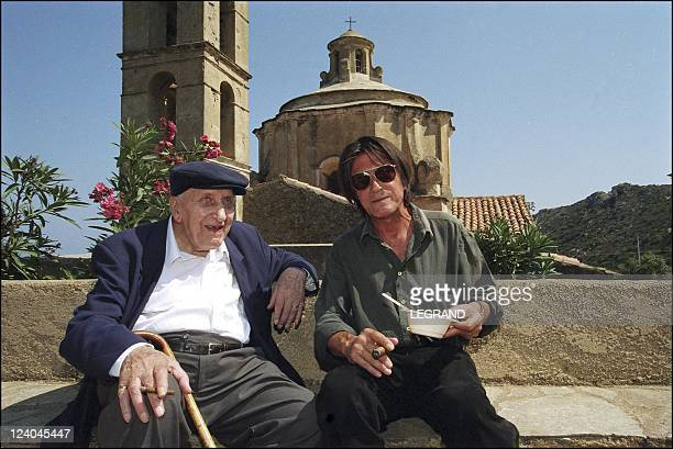 French singer and actor Jacques Dutronc In Monticello France In June 2002 Jacques Dutronc and his father Pierre
