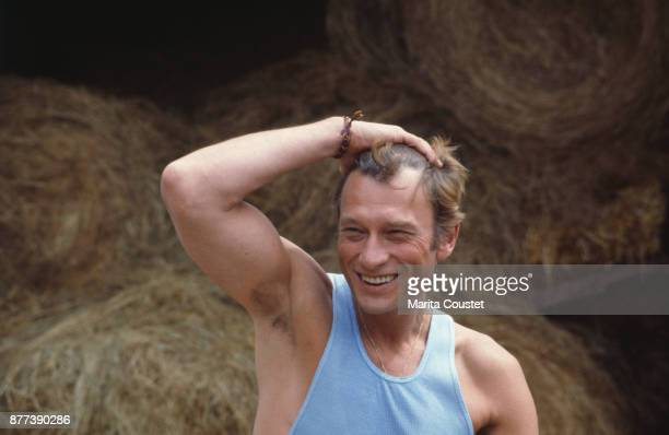 French Singer and Actor Johnny Hallyday on holiday in Creuse 01st August 1985