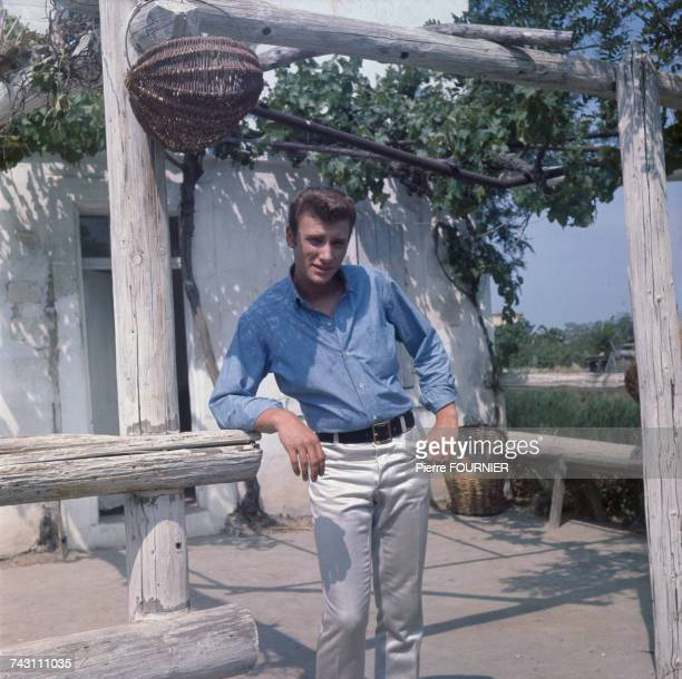 French singer and actor Johnny Hallyday on the set of 'D'où vienstu Johnny' directed by Noel Howard 20th May 1963