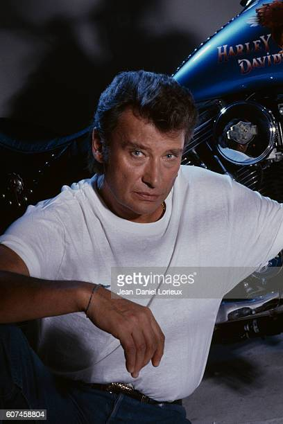 French singer and actor Johnny Hallyday