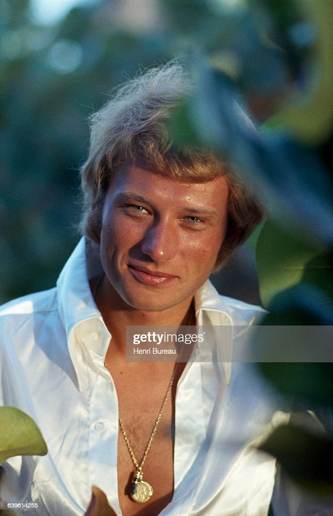 French Singer and Actor Johnny Hallyday : News Photo