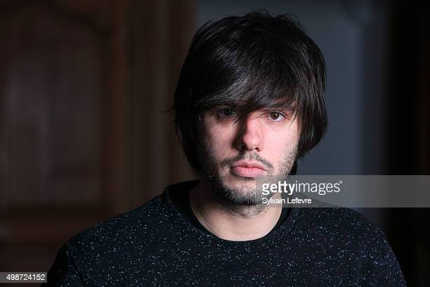French singer and actor Orelsan poses during photo session for the screening of the film 'Comment c'est loin' on November 25 2015 in Lille France