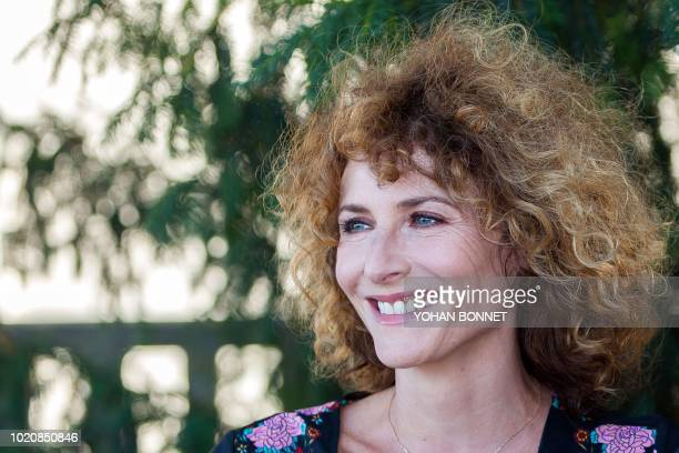 French singer and actress and president of the jury of Francophone students Elsa Lunghini poses during a photocall on the opening day of the 11th...