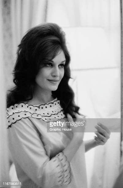 French singer and actress Dalida , circa 1955.