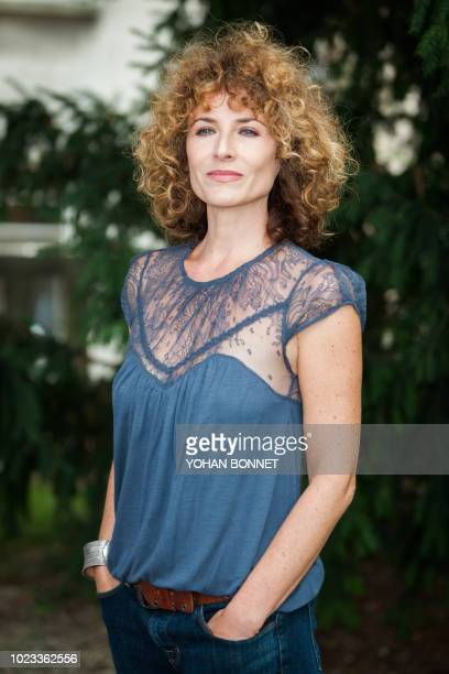 French singer and actress Elsa Lunghini President of the student jury poses during the 11th Francophone Angouleme Film Festival on August 25 2018 in...