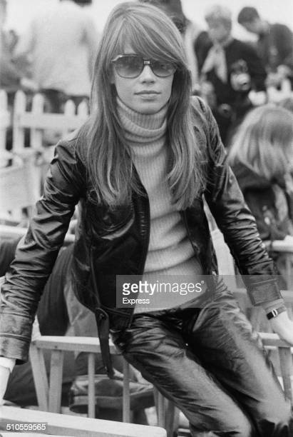 French singer and actress, Françoise Hardy, at the Isle of Wight Music Festival, August 1969.