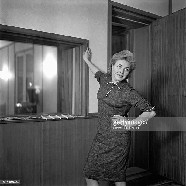 French singer and actress Line Renaud.