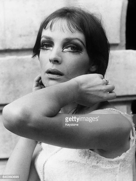 French singer and actress Marie Laforêt appears in the title role of 'La Hobereaute' a spoken opera by Jacques Audiberti at the Hotel de BéthuneSully...