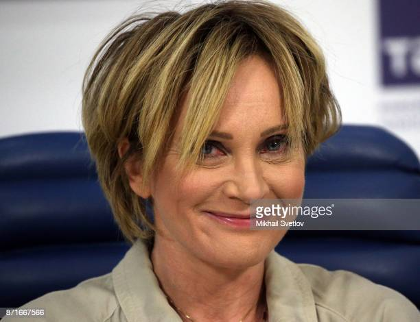 French singer and actress Patricia Kaas during her press conference November 8 2017 in Moscow Russia Patricia Kaas is planning to begin her concert...