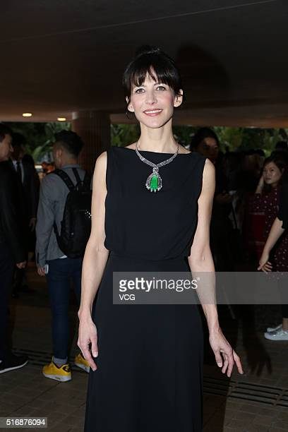 French singer and actress Sophie Marceau arrives for the 40th Hong Kong International Film Festival on March 21 2016 in Hong Kong China