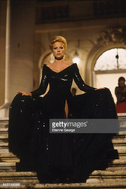 "French singer and actress Sylvie Vartan on the set of the film ""L'Ange Noir"" , directed by French director Jean-Claude Brisseau."