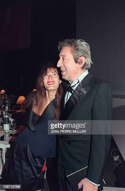 French singer and composer Serge Gainsbourg and his companion Bambou attend the 5th Victoires de la Musique annual ceremony France's top music award...