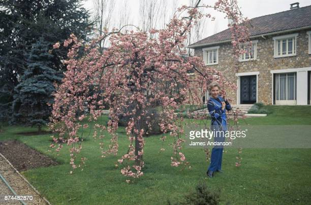 French singer and dancer Line Renaud at home 27th April 1970