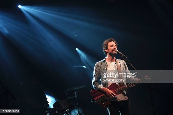 french singer and musician louis jean cormier performs on stage during the francofolies music. Black Bedroom Furniture Sets. Home Design Ideas