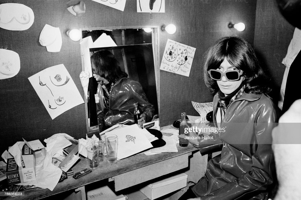 French singer and songwriter Antoine in his dressing room at the Olympia music hall.