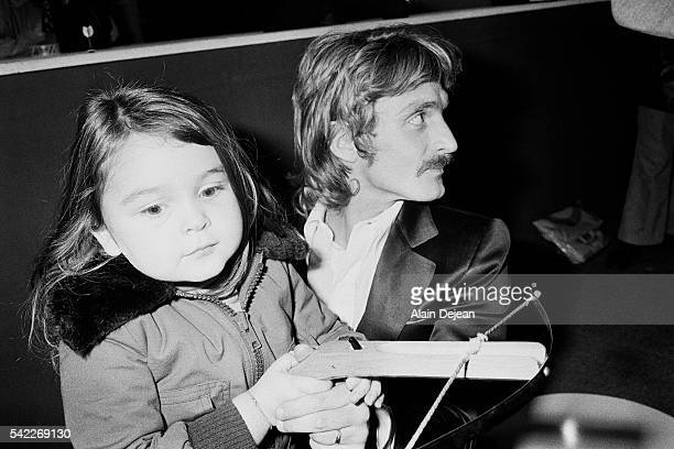 French singer and songwriter Christophe with his daughter Lucie 3