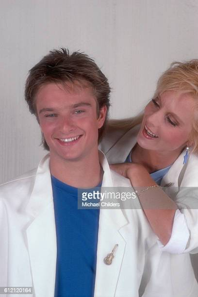 French singer and songwriter David Hallyday and his mother, Bulgarian-born singer Sylvie Vartan in Joshua Tree.