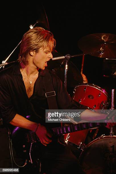French singer and songwriter David Hallyday on stage in Los Angeles.