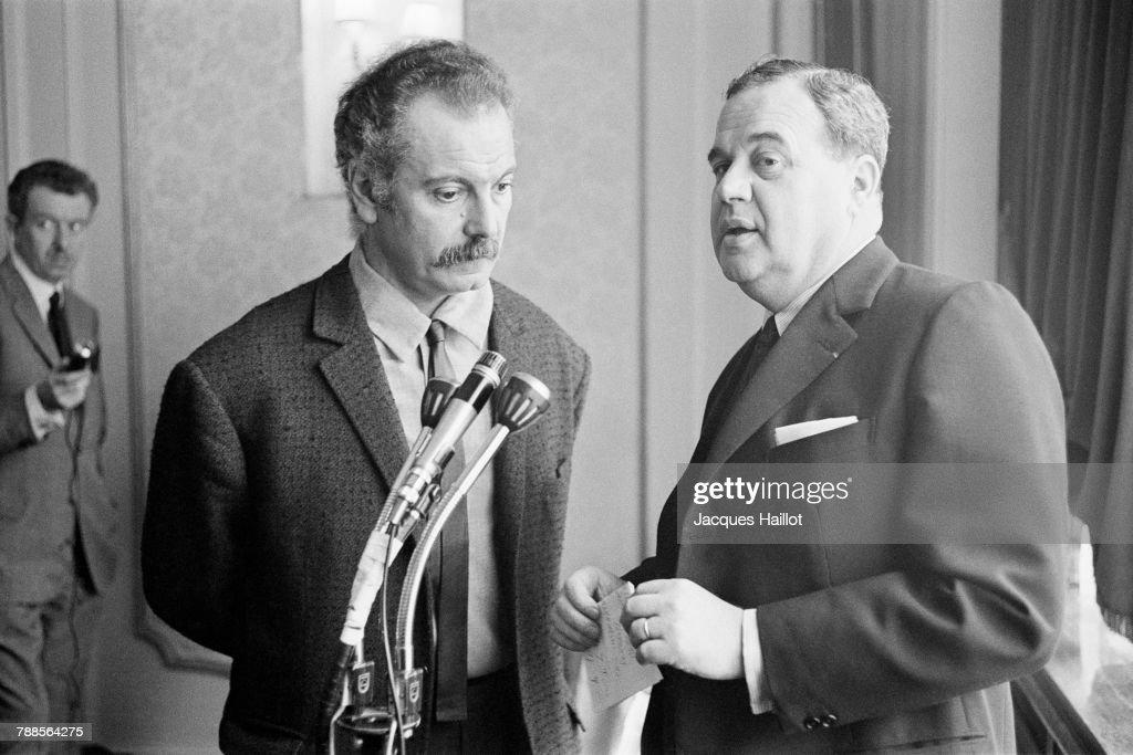 Georges Brassens with Georges Meyerstein-Maigret  : News Photo