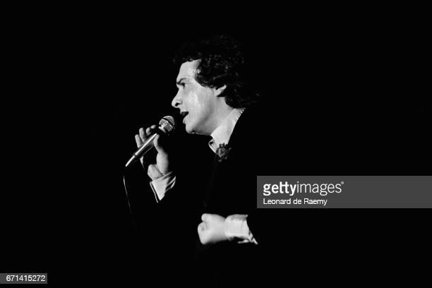 French singer and songwriter Michel Sardou on stage