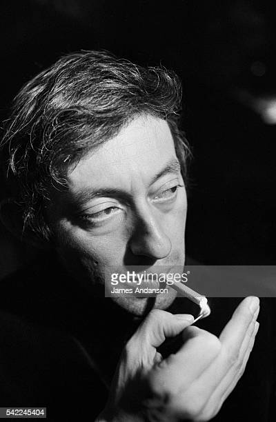 French singer and songwriter Serge Gainsbourg at the King Club, in Paris.