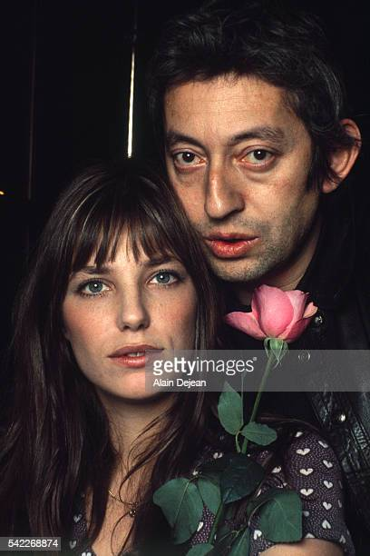French singer and songwriter Serge Gainsbourg with his partner British singer and actress Jane Birkin at home in Paris, May 1972.
